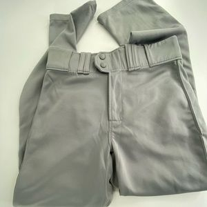 Men's gray baseball pants